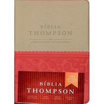 Bíblia De Estudo Thompson Bege/vermelha Com Índice