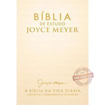 Bíblia De Estudo Joyce Meyer Nvi - Letra Grande Cor Dourada