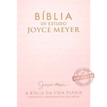 Bíblia De Estudo Joyce Meyer Nvi - Letra Grande - Luxo Rosa