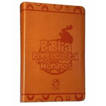 Bíblia De Estudo Pentecostal Para Meninos Grande Laranja