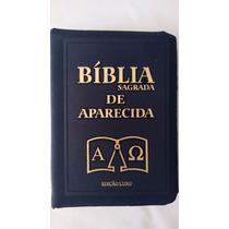 Bíblia Sagrada De Aparecida Zíper Edição Luxo Capa Preta