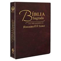 Bíblia Sagrada Comentada R. R. Soares Rc Marrom