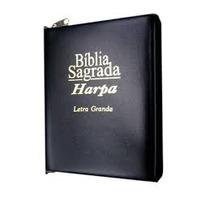 Bíblia Letra Grande + Harpa + Ziper - 16x12cm - Frete Grátis