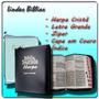 Bíblia Letra Grande + Harpa + Ziper + Índice - Melhor Preço