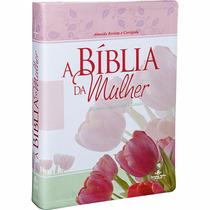Bíblia Da Mulher De Estudo - Tulipa E Rosa - Frete Grátis