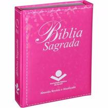 Biblia Sagrada Pequena Capa Luxo Pink Modelo Carteira Ra