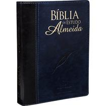 Bíblia De Estudo Almeida Revista E Atualizada - Azul E Preta