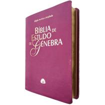 Bíblia De Estudo Genebra - Revista E Atualizada - Cor Uva