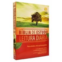 Bíblia De Estudo Leitura Diária Tamanho Grande 23 X 17 Cm