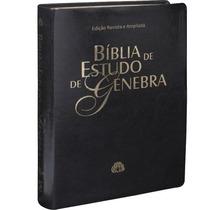 Bíblia De Estudo Genebra - Ra - Luxo Preta + Indice Lateral
