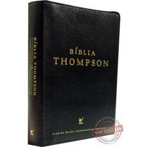 Bíblia De Estudo Thompson - Luxo Couro Bonded Preta + Indice