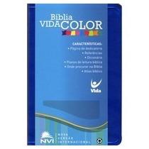 Bíblia Vida Color Azul Nvi