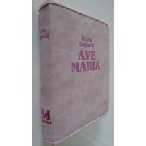 Bíblia Sagrada Strike Rosa Zíper Média - Ave Maria Mulher