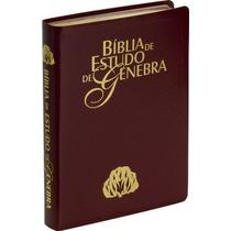 Bíblia De Estudo Genebra - Ra - Luxo Vinho + Indice Lateral