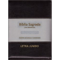 Bíblia Sagrada Letra Jumbo Harpa Índice Frete Grátis