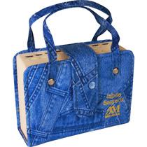 Bíblia Sagrada Católica Ave Maria Bolsa C Alça Azul Jeans