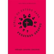 Bíblia De Estudo Para Pequenos Grupos - Luxo - Pink