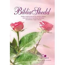 Bíblia Shedd Rosa Flores Capa Capa Feminina