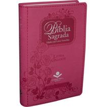 Biblia Feminina Índice Digital Letra Gigante Rosa Pink