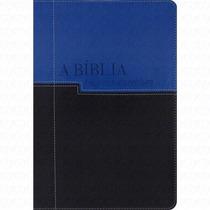 Bíblia Em Ordem Cronológica - Nvi - Preta E Azul Luxo