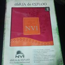 Biblia Nvi De Estudo Luxo Cor Feminina