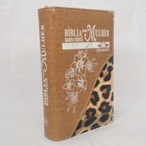 Bíblia Feminina Grande Harpa Cristã Índice Lateral Madeira