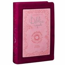 Biblia Sagrada Feminina Grande Letra Gigante Rosa Pink