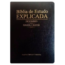 Bíblia De Estudo Explicada Dicionário E Harpa Cristã Cpad