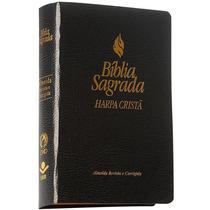 Bíblia Sagrada Com Harpa Cristã Almeida Revista E Corrigida