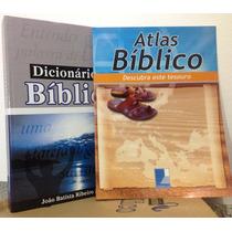 Dicionário Bíblico Oferta Teologia + Atlas De Brinde Kit