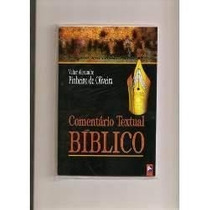 (livro) Comentário Textual Bíblico Com Base Hebraica.