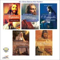 Kit Obras Básicas Allan Kardec 05 Livros - Lançamento