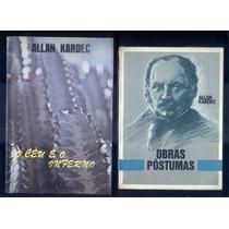 Allan Kardec Lote De 4 Livros Espiritismo