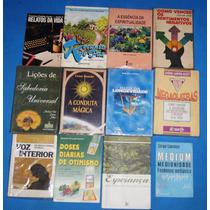 Lote 12 Livros Usados Espirita Auto Ajuda