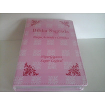 (mkb) Bíblia Feminina C. Harpa Let. Gigante Capa Florida