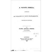 Bíblia Antonio P.de Figueiredo Edições Antigas Escaneadas