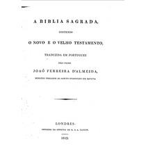 Bíblia Traduzida J.f.de Almeida Edições Antigas Escaneadas