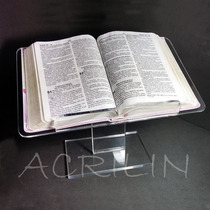 Expositor Suporte Porta Biblia Em Acrilico De 1ª Linha