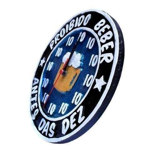 Relógio Proibido Beber Antes Das Dez 10 - Parcele Em Até 12x