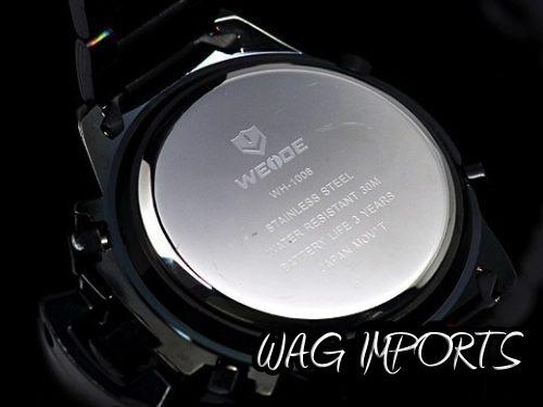 Relógio Weide Led Digital Em Aço Inox