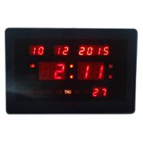 Relógio Parede Digital Led Termômetro Calendário Termômetro