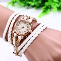 Relógio Feminino Pulseira Vintage De Couro E Quartzo Insira