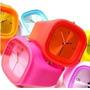 Relógio Silicone Colorido Unisex ( Rosa)