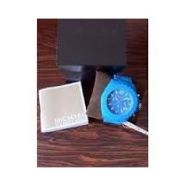 Michael Kors Mk8261 Drake Azul Silicone Relógio Cronógrafo 4