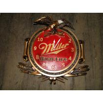 Relógio Cerveja Miller, Tampa Barril, Decoração, Bares,