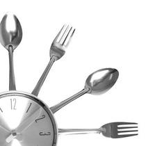 Relógio De Parede Talheres Gourmet Decorativo Lindo Presente