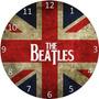 Relógio Feito Em Disco De Vinil The Beatles