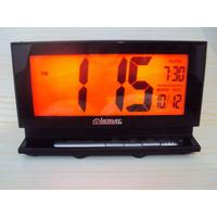 2946 - Relógio Despertador Digital Led Luz Permanente Calend