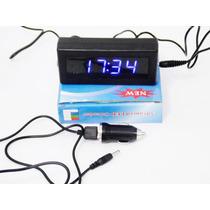 Relógio Digital Led Parede E Mesa C/ Calendário E Termômetro