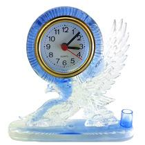 Leilão Relogio De Mesa Em Acrílico Com Aguia Azul A1738